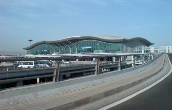 A view of Terminal 3 at Urumqi's International Airport in Xinjiang, China