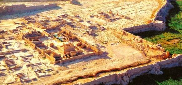 Turpan's ancient Gaochang Ruins in Xinjiang on the Silk Road