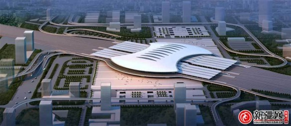 The new Urumqi high-speed railway station in Xinjiang