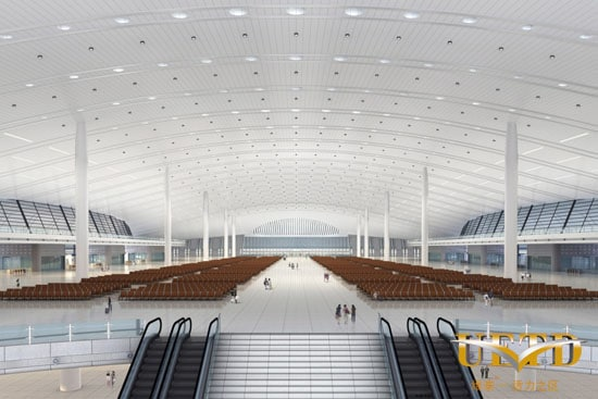 Inside the Urumqi High-speed rail station in Xinjiang