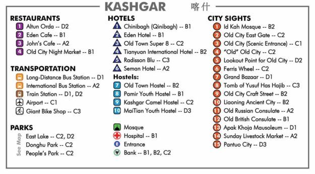 Kashgar City Map Key