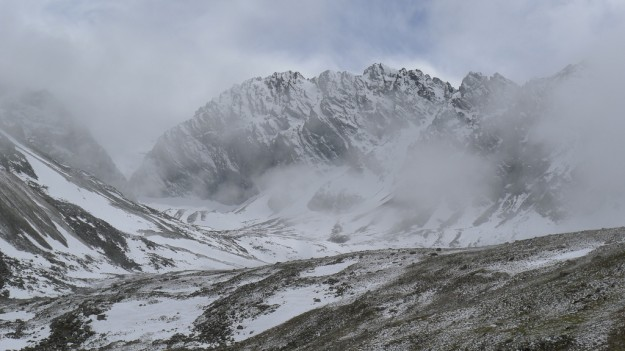 Stormy weather in Xinjiang's Tian Shan in China