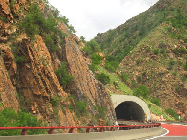 Highway G30 in Xinjiang headed from Urumqi to Yili