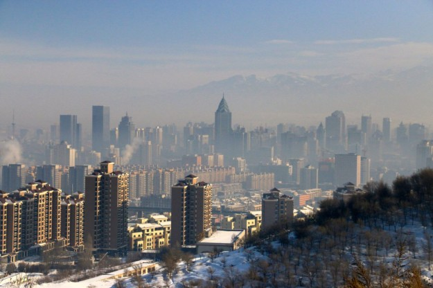 A birds-eye-view of Urumqi, Xinjiang