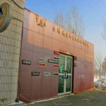 An outside view of the White Birch Hostel in Urumqi, Xinjiang