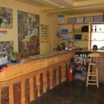 Reception area of the White Birch Hostel in Urumqi, Xinjiang