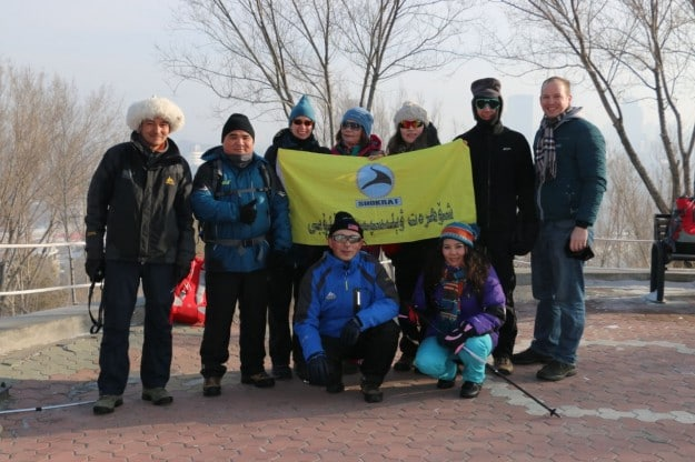 The Uyghur hiking group in Urumqi, Xinjiang