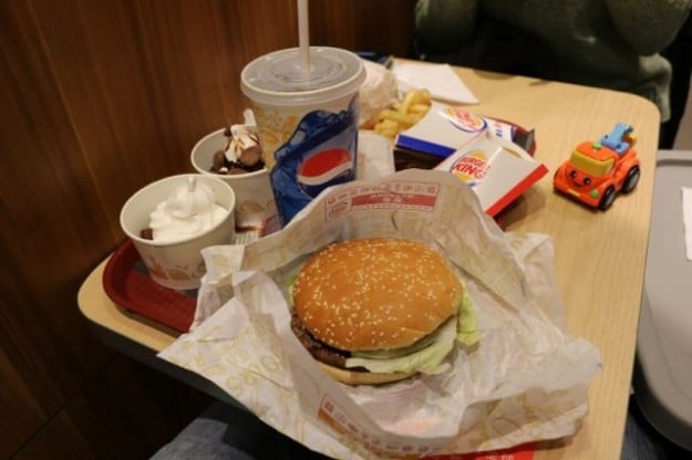 A Whopper meal deal in Xinjiang, China