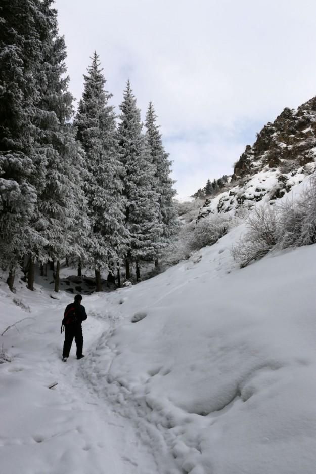 Blazing a trail on the Urumqi NanShan in Xinjiang