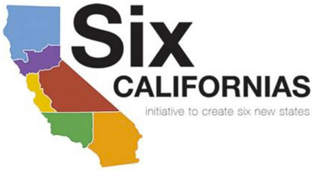 Dividing California into six states