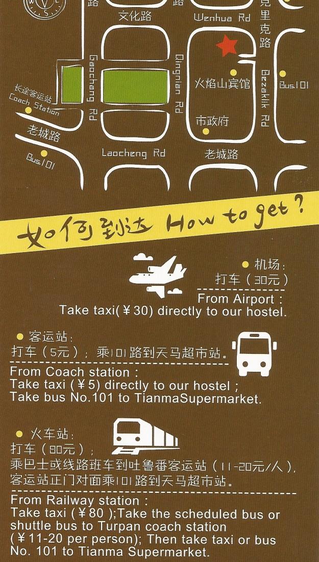 Additional Turpan White Camel hostel Info
