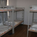 A 10-person dorm room at the White Camel Youth Hostel in Turpan, Xinjiang