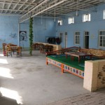 The common area of the Turpan White Camel Youth Hostel in Xinjiang