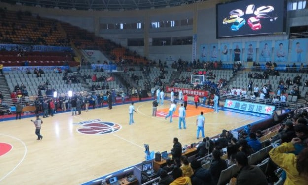 A CBA basketball game in Xinjiang, China