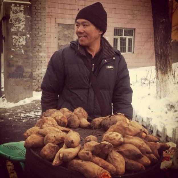 Xinjiang street food vendor