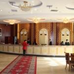 The lobby of the International Trade Grand Hotel in Urumqi, Xinjiang