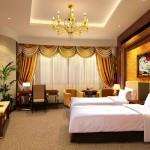 A standard room at the Urumqi International Trade Grand Hotel