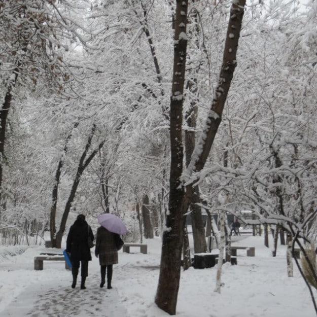 Urumqi winter wonderland after a snowfall
