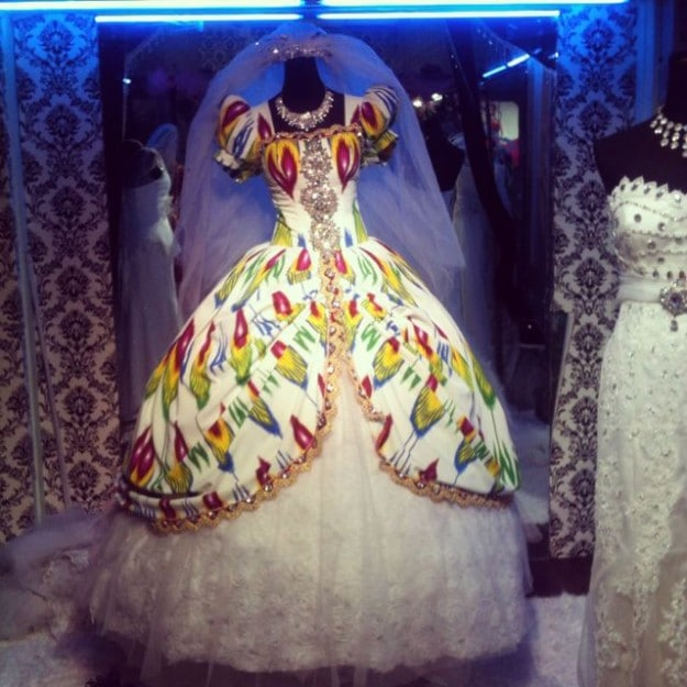 Modern Uyghur wedding dress