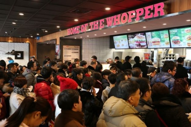 The very first Burger King that opened in Xinjiang, China