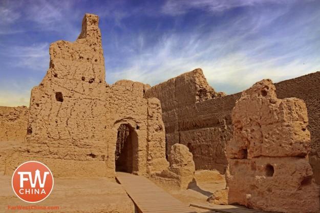 The Jiaohe ancient city ruins in Turpan, Xinjiang