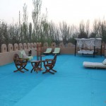 The open-air balcony on the roof of the Turpan Silk Road Lodge - The Vines