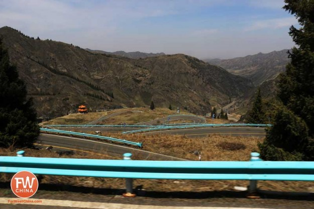 Winding Road leading up to Xinjiang's Heavenly Lake