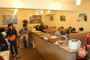 An inside view of the Aegean Sea Greek restaurant in Urumqi, Xinjiang