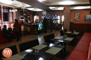 An inside view of George and Dragon English Restaurant in Urumqi, Xinjiang