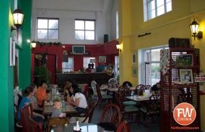 An inside view of The Vine foreign restaurant in Urumqi, Xinjiang 德曼咖啡