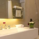 A luxurious bathroom at the Grand Mercure Hotel in Urumqi, Xinjiang