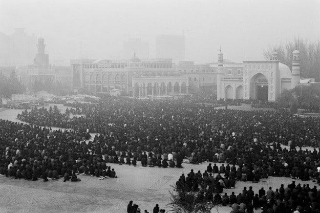Prayers at the Id Kah Mosque in Kashgar, Xinjiang