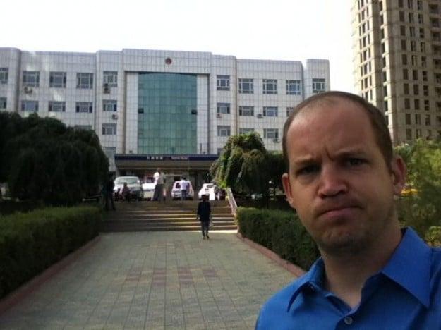 At the Urumqi Traffic Police station