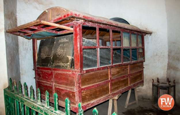 The alleged cart that carried the Fragrant Concubine's body from Beijing back to Kashgar in Xinjiang