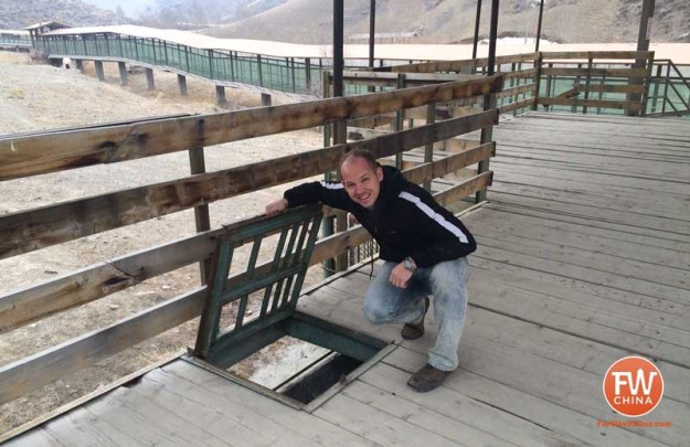 An unlocked hatch at the Xinjiang Tianshan Safari Park