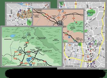 Xinjiang Guide Maps
