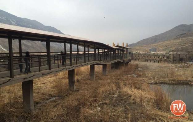 Elevated walkway at the Xinjiang Tianshan Safari Park