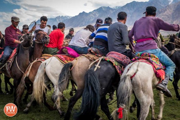 Tajik Buzkashi players