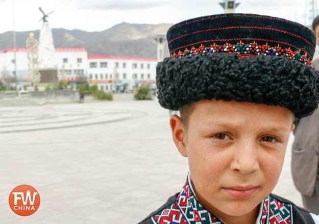 Young Tajik boy in Tashkurgan, Xinjiang