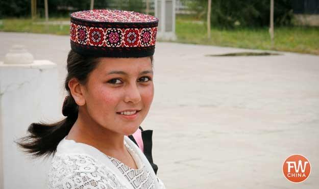 A young Tajik lady in Tashkorgan, Xinjiang