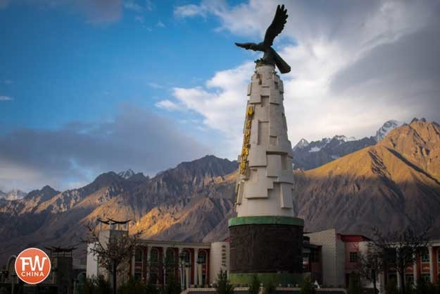 Eagle monument in Tashkorgan, Xinjiang