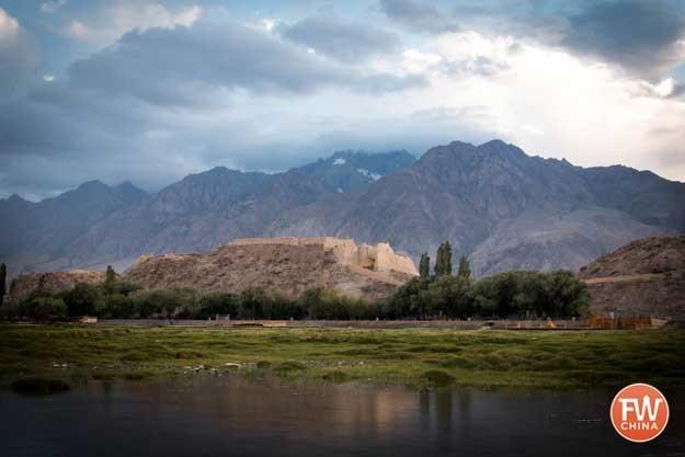 Tashkorgan Stone fort in Tashkorgan, Xinjiang