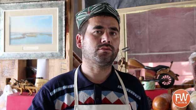 Abdukadir, a Uyghur paper maker in Hotan Xinjiang