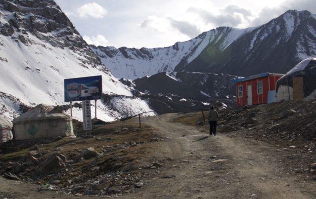The entrance to the Urumqi No 1 Glacier in Xinjiang, China
