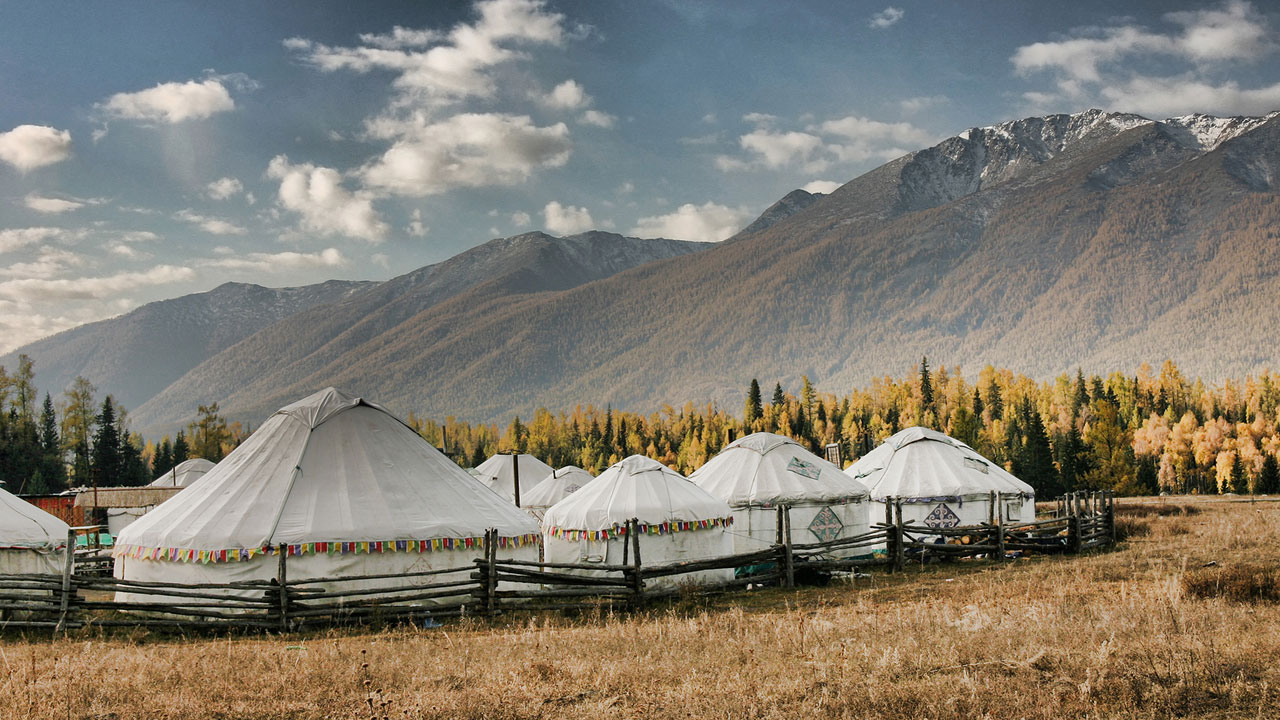 These are real nomads who live in yurts