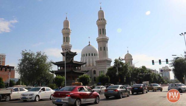 The Baytullah (拜吐拉) Mosque in Yining, Xinjiang