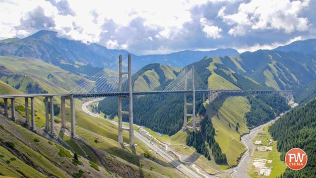 Fruit Valley 果子沟 Scenic bridge in Yili, Xinjiang (China)