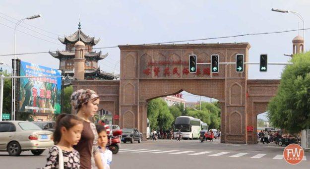 Kazanqi Handicraft Market in Yining, Xinjiang