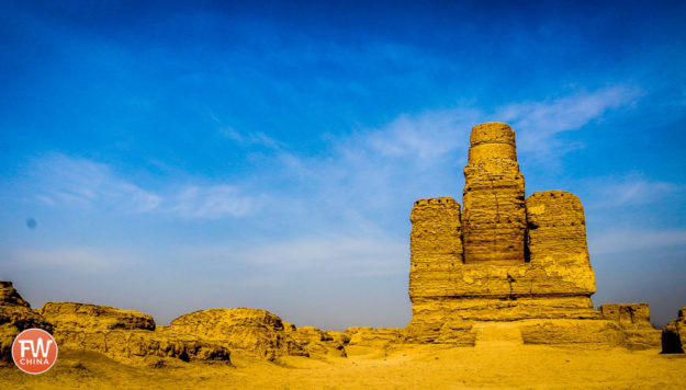 Stupa ruins at Turpan's Jiaohe Ancient City