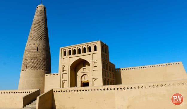 The beautiful Emin Minaret, one of the most famous places to visit in Turpan